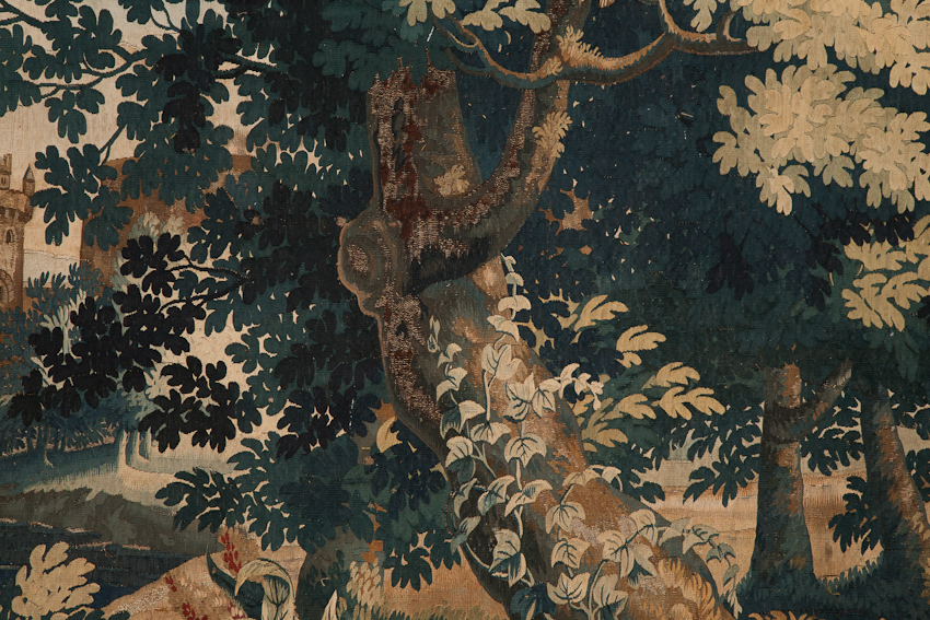 ivy growing on tree in tapestry