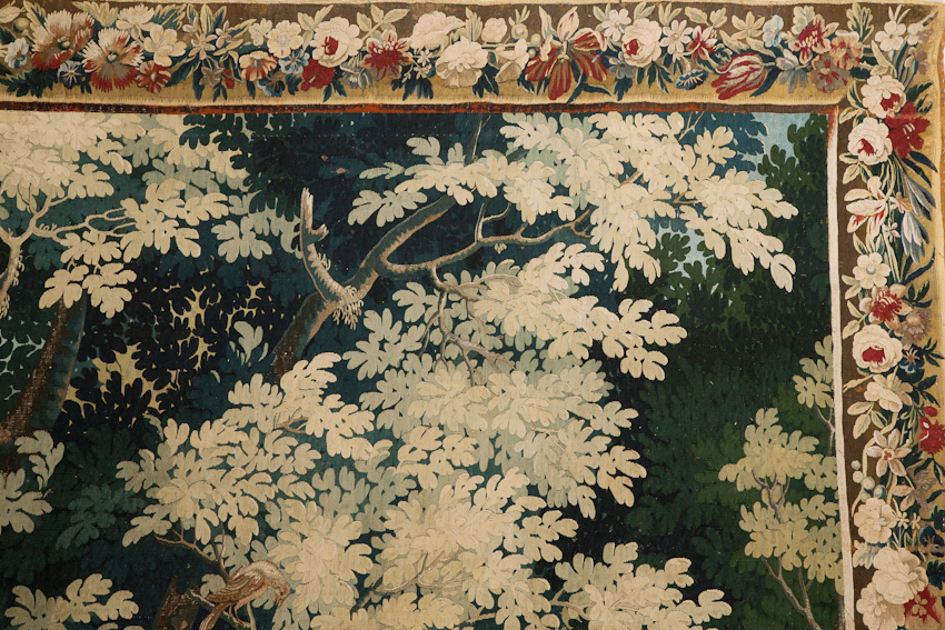 17th century tapestry with border