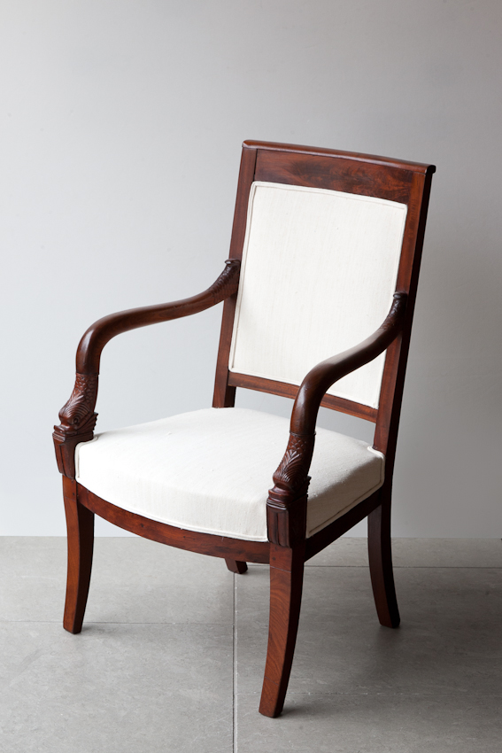 Restauration mahogany French Fauteuils from Julia Boston Antiques