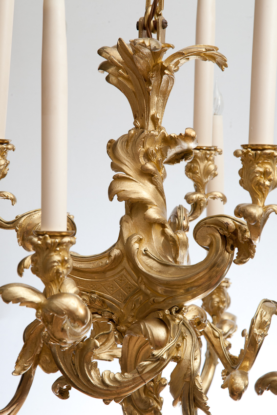 Rococo Chandelier in gilt bronze from Julia Boston Antiques, 588 King's Road.
