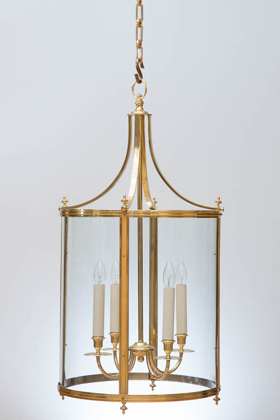 Gilt brass hall lantern late 19th century
