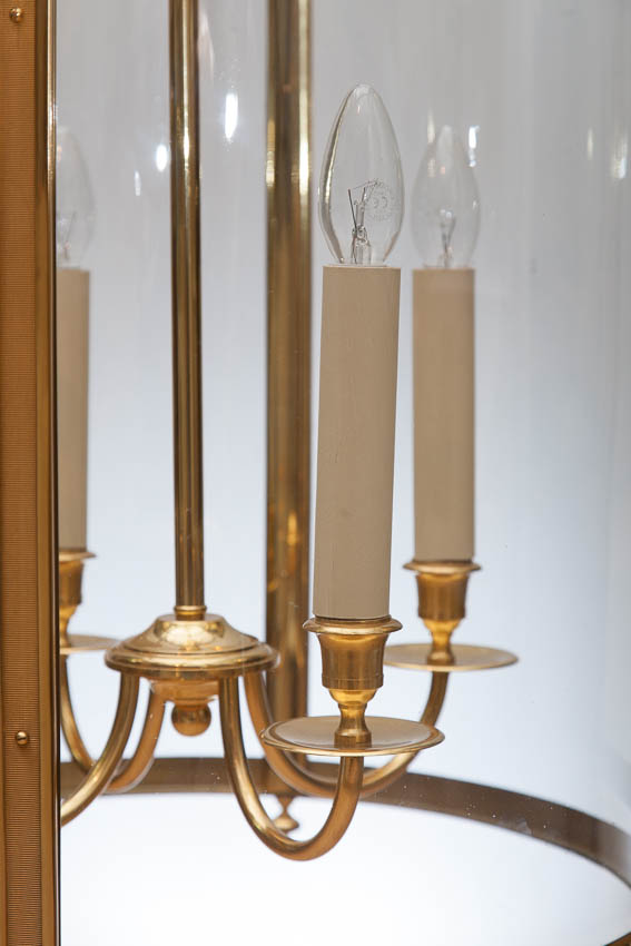 Hall lantern electrified with four candles