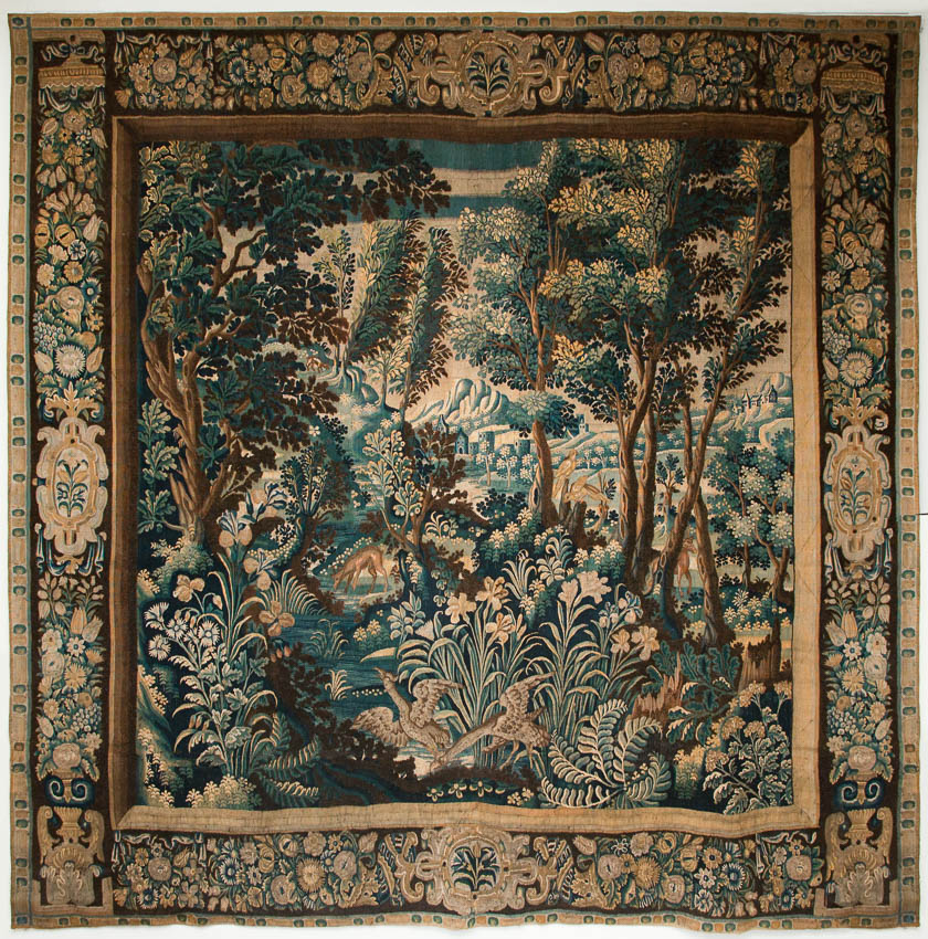 17th centuryn flemish tapestry from Julia Boston Antiques