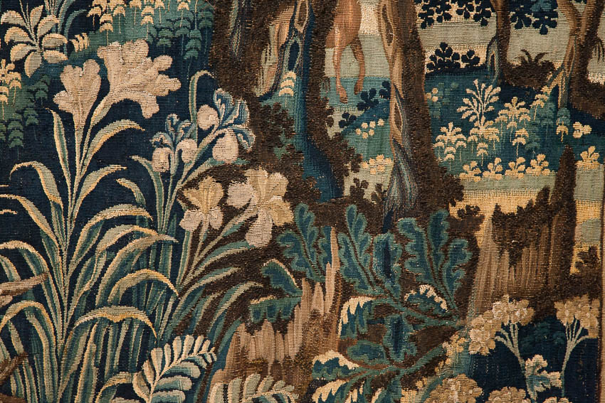 17th century square tapestry