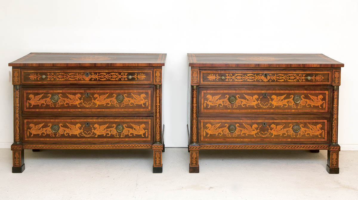 Pair Of Antique Commodes