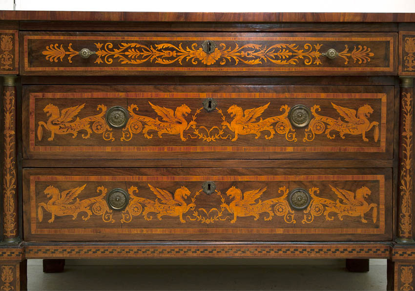 italian marquetry commode