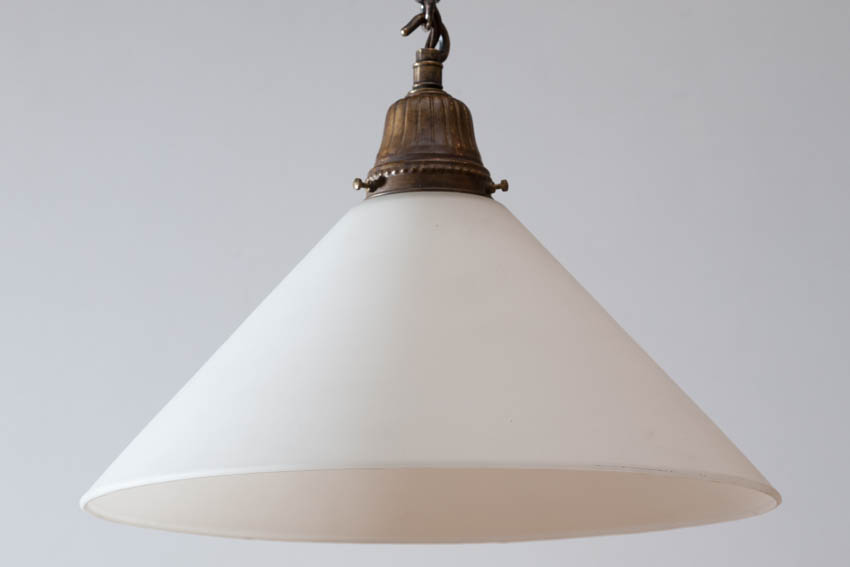 milk glass cone light
