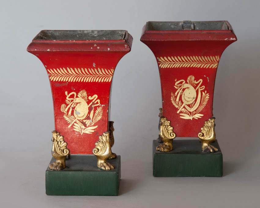 Pair of tole jardieniere, early 19th Century