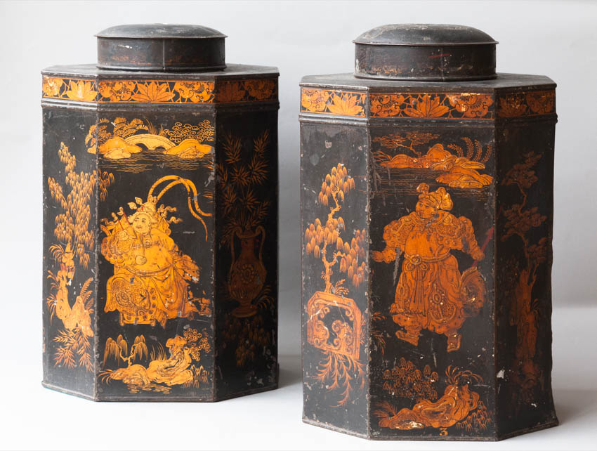 Pair of Regency Tea Caddy's