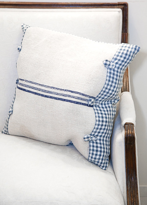 linen and flax cushion