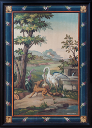 aubusson fable tapestry cartoon