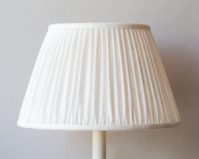 small white rough silk drum shade