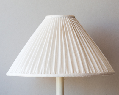 ivory rough silk lampshade