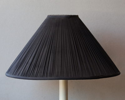 black smooth silk lampshade
