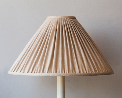 beige rough silk lampshade